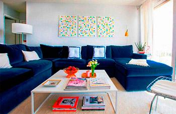 Темно-синяя мебель